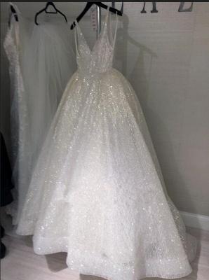 Sparkling Sequins Open Back Long Formal Dresses | Sleeveless Wedding Dresses_3