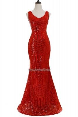 Newest Long Sequin Jewel Mermaid Sleeveless Prom Dress_7