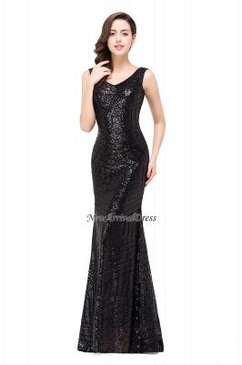 Newest Long Sequin Jewel Mermaid Sleeveless Prom Dress_8