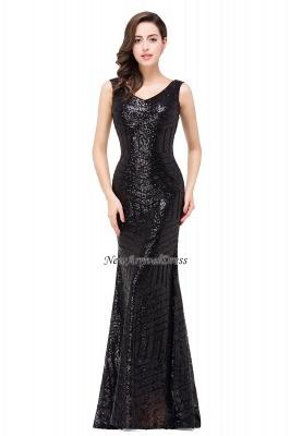 Newest Long Sequin Jewel Mermaid Sleeveless Prom Dress_6