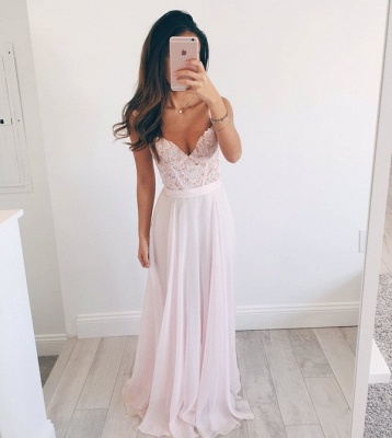 New Arrival Straps Lace Formal Dresses Cheap V-neck Summer Party Gowns BA2665_4