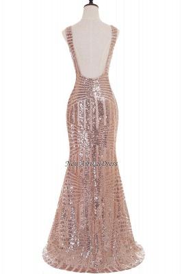 Newest Long Sequin Jewel Mermaid Sleeveless Prom Dress_5