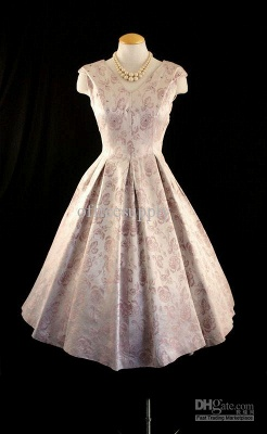 New Style Cusotm Made Embroidery A Line Satin Tea Length Mother of Brides Dresses TW06071_1