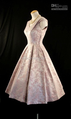 New Style Cusotm Made Embroidery A Line Satin Tea Length Mother of Brides Dresses TW06071_3