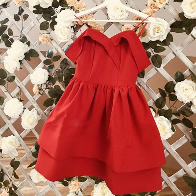 Cute Red Off-the-shoulder Short Homecoming Dress | Ruffled Formal Gown_4