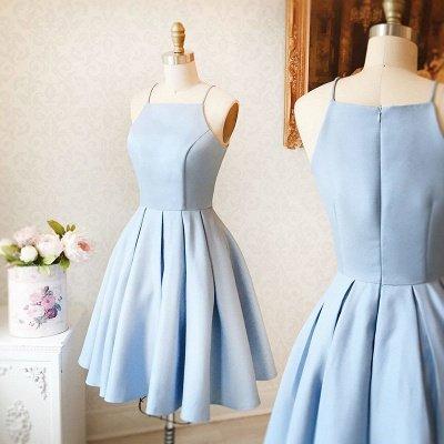 Simple Blue Sleeveless Custom Made A-line Zipper Sexy Short Homecoming Dresses BA7095_3