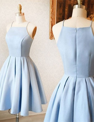 Simple Blue Sleeveless Custom Made A-line Zipper Sexy Short Homecoming Dresses BA7095_1