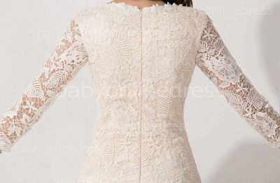 Elegant Lace 3/4 Sleeves Sheath Mother of The Bride Dress_5