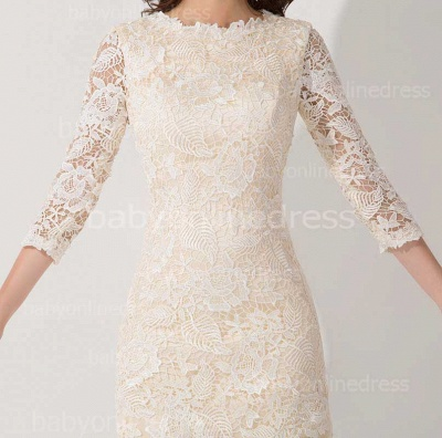 Elegant Lace 3/4 Sleeves Sheath Mother of The Bride Dress_2