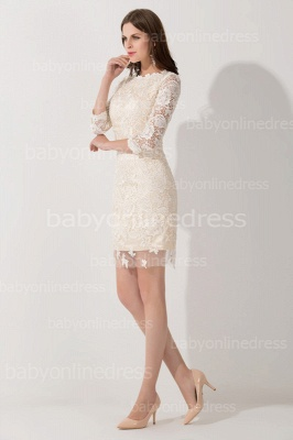 Elegant Lace 3/4 Sleeves Sheath Mother of The Bride Dress_3