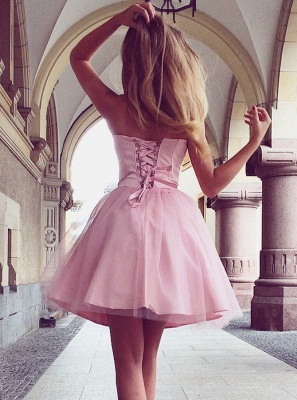 Sweetheart Pink Homecoming Dresses  Classic Sexy Sleeveless Cocktail Dresses_3