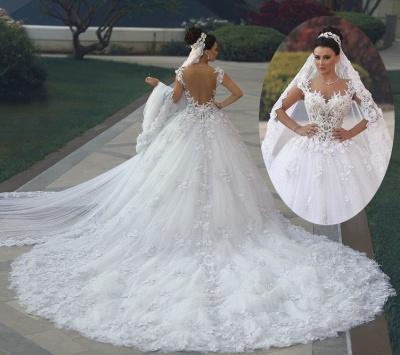 Custom Made Princess Sleeveless Luxurious Lace Wedding Dresses Cheap_3