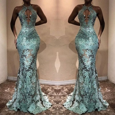 Sexy LaceProm Dress | Halter Mermaid Evening Gowns BA7714_3
