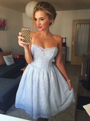 Sweetheart Homecoming Dresses  Classic Sexy Sleeveless Cocktail Dresses_1