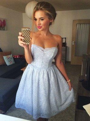 Robes de bal chérie | Une ligne robes de cocktail sans manches_1