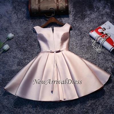 Short Sleeveless Lace-up Elegant Sexy Short Homecoming Dresses_1