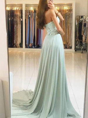 Newest Lace Chiffon A-line Evening Dress | Sleeveless Evening Dress_3