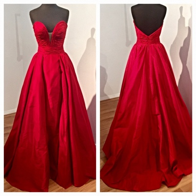 Sweetheart Red Evening Dresses | Oprn Back Long Prom Dresses Cheap Online BA7350_3