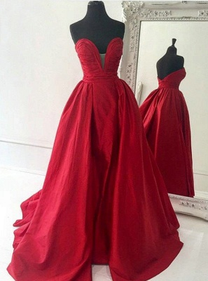 Sweetheart Red Evening Dresses | Oprn Back Long Prom Dresses Cheap Online BA7350_1