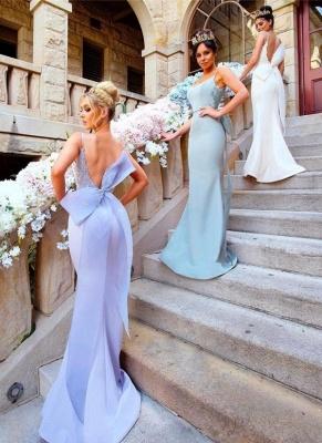 Fairy Mermaid Bowknot Open-Back Lace-Appliques Bridesmaid Dresses_1
