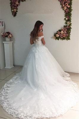 Lace Strapless Online Appliques Off The Shoulder New Arrival A-line Wedding Dresses_3