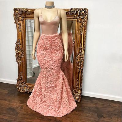 Floor Length Spaghetti Straps Mermaid Gorgeous Prom Dresses Cheap_4