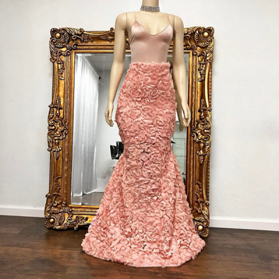 Floor Length Spaghetti Straps Mermaid Gorgeous Prom Dresses Cheap_3