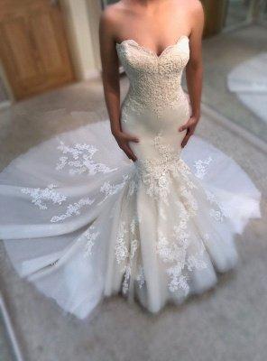 Modest Sweetheart Mermaid Wedding Dresses | Bridal Dress_1