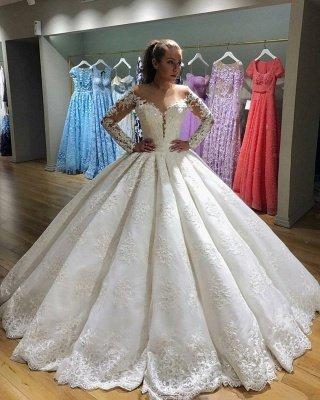 Latest Long Sleeve New Arrival Lace Elegant Wedding Dresses | Ball Gown Elegant Wedding Dresses_3