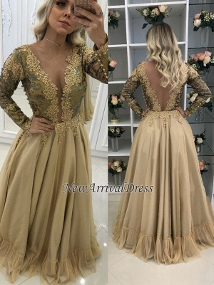 4100299eb4 V-Neck Floor-Length Long Sleeves Lace Chic Prom Dresses  Item Code   D153413448211383