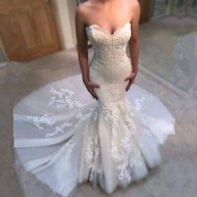 Modest Sweetheart Mermaid Wedding Dresses | Bridal Dress_3
