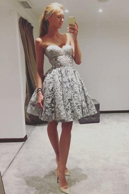 Elegant Sweetheart Homecoming Dresses  Classic Sexy Sleeveless Cocktail Dresses_1