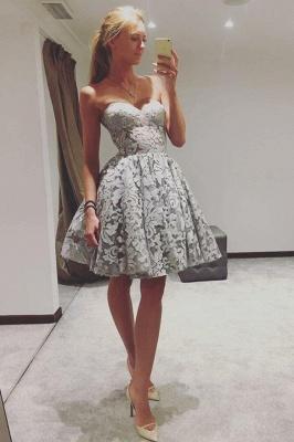 Robes de bal chérie élégantes | Une ligne robes de cocktail sans manches_1