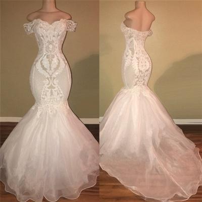Off The Shoulder Long Prom Dresses Cheap | Open Back Lace Appliques Formal Dresses Online bc1326_3