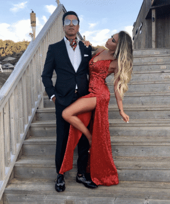 Sexy Red Sequin Prom Dresses | Halter Neck Backless High Slit Party Dresses_6