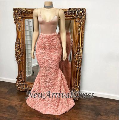 Floor Length Spaghetti Straps Mermaid Gorgeous Prom Dresses Cheap_1