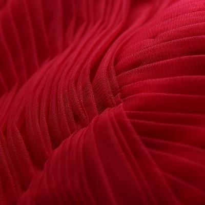 Newest Red Off-the-shoulder A-line Prom DressLace-up Floor-length_6