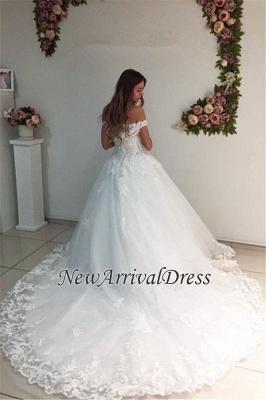 Lace Strapless Online Appliques Off The Shoulder New Arrival A-line Wedding Dresses_1