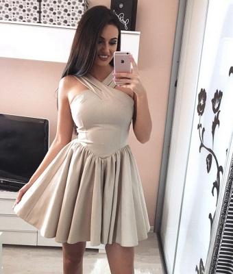 Modern Short Halter Sleeveless A-line Homecoming Dress_4