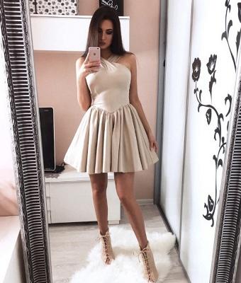 Modern Short Halter Sleeveless A-line Homecoming Dress_3
