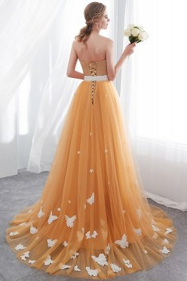 Sheath Sash Fashion Gold Floor-Length Long Evening Dresses_6