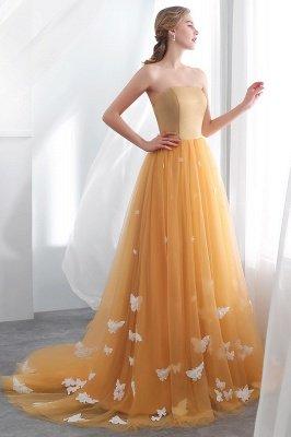 Sheath Sash Fashion Gold Floor-Length Long Evening Dresses_5