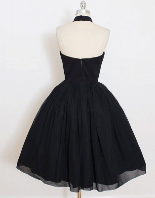 Modern Black High Neck Sleeveless Custom Made A-line Sexy Short Homecoming Dresses_3
