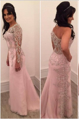 New Arrival One-shoulder Floor-length Chiffon Beading Appliques Prom Dresses
