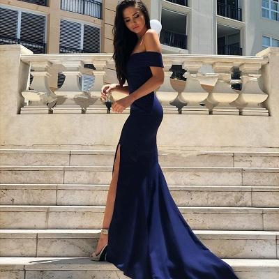 Gorgeous Short-Sleeve 2019 Evening Dress | Mermaid Prom Dress With Slit_3