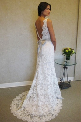 Lace Wedding Dresses Cheap Online | Stunning Close-fitting Simple Wedding Dress for Beach BA3872_2