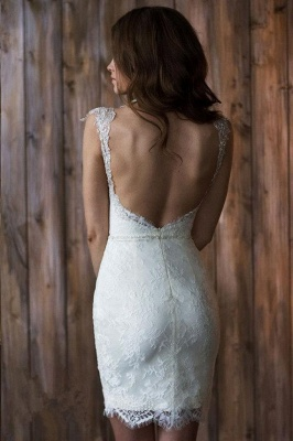 Cap Sleeve Sexy V-neck Crystals Detachable Tulle Overskirt Wedding Dresses Cheap_6