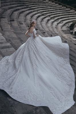 Robes de mariée élégantes à manches longues | Robes de mariée sexy 2021 en dentelle_3