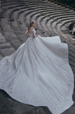Elegante lange Ärmel Ball Brautkleider | 2021 Lace Sexy Brautkleider_3
