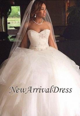 Ruffles Princess Sweetheart Tulle Ball Gown Wedding Dresses Cheap_1